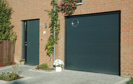Galerie portes de garages halloin - Hublot rond porte de garage ...